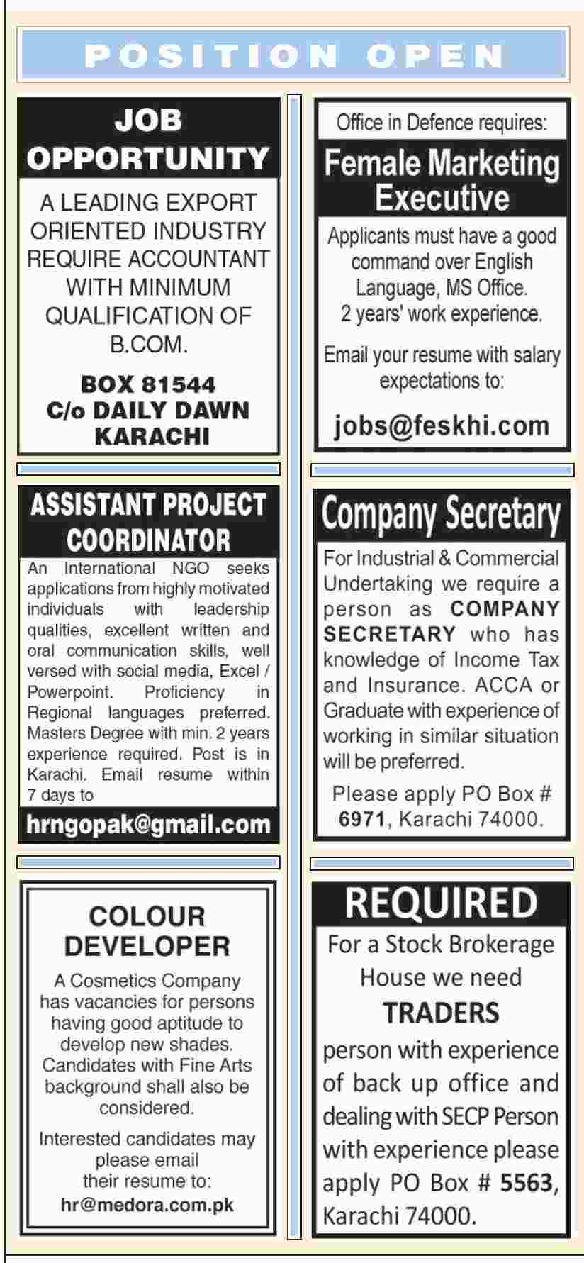 Jobs - A LEADING EXPORT ORIENTED INDUSTRY REQUIRE ACCOUNTANT ...