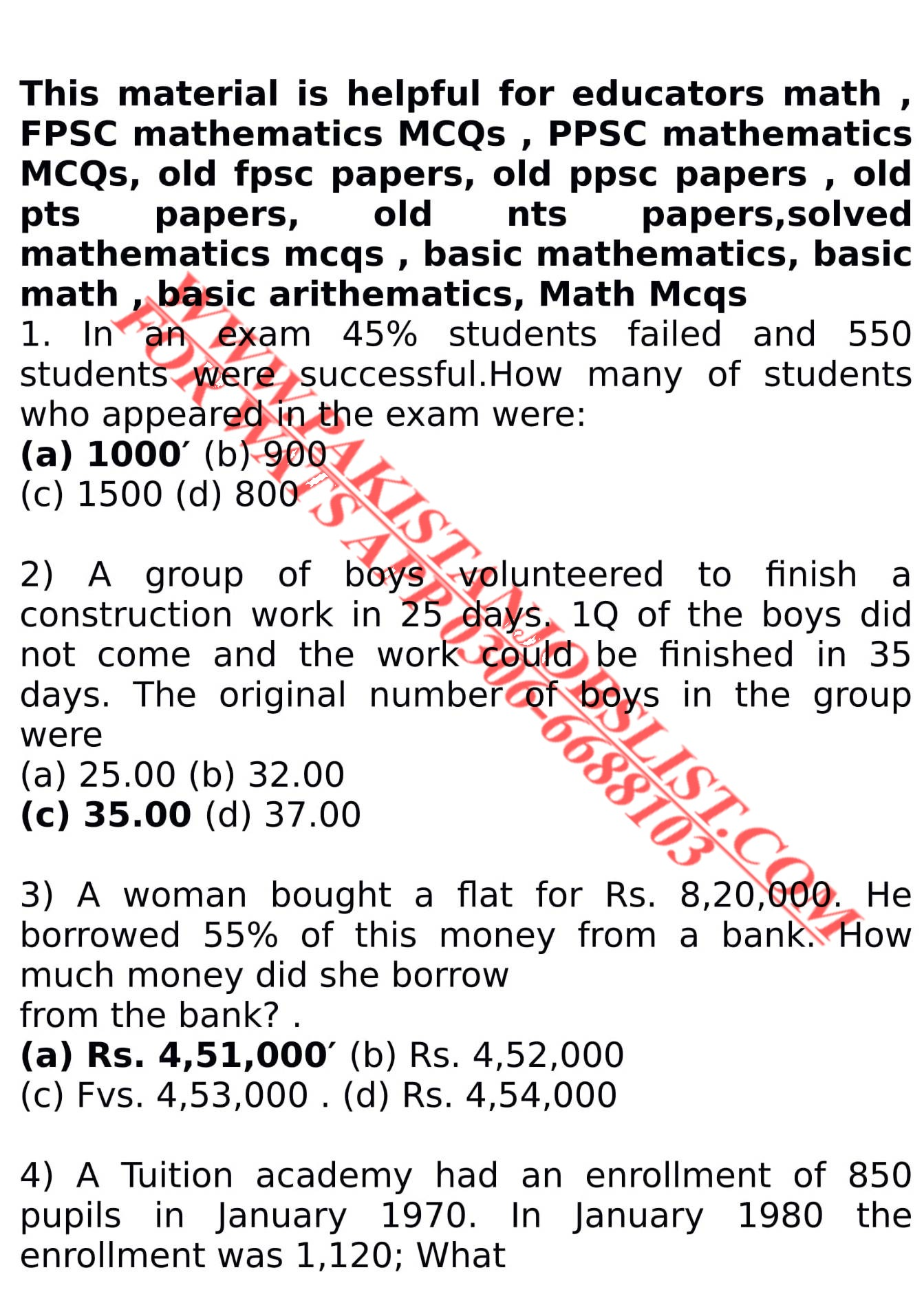 Mathematics Mcqs For Nts - Tips and Tricks About Mathematic